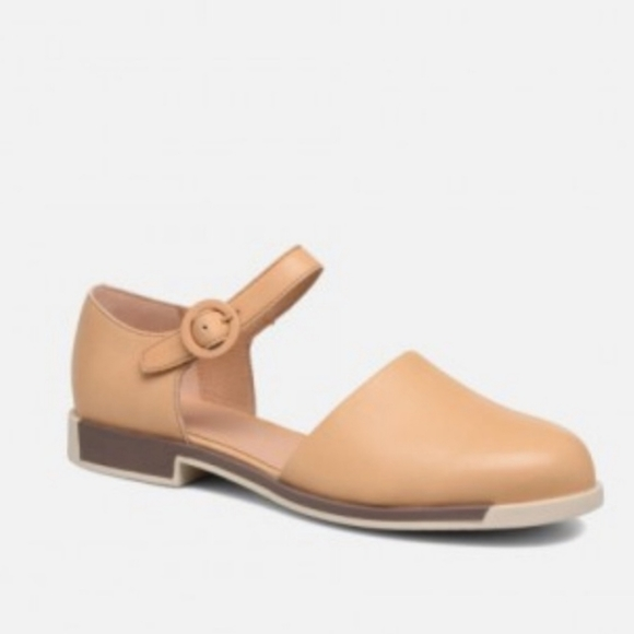 Camper Shoes - CAMPER BOWIE TAN LEATHER MARY JANES SIZE 39